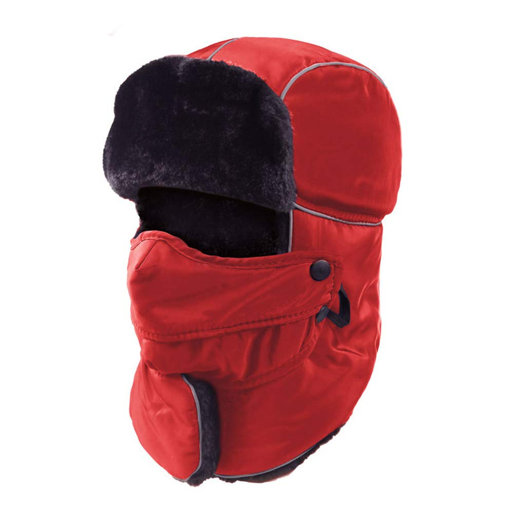 Leories Trapper Hat Windproof Hunting Hat with Mask Warm Ear Flap Hats