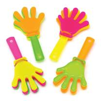 Baker Ross Mini Hand Clappers (Pack of 8) Plastic Noisemakers Perfect for Kids Goodie Bags, Halloween Party Favors, Pinata Filler or Birthday Presents