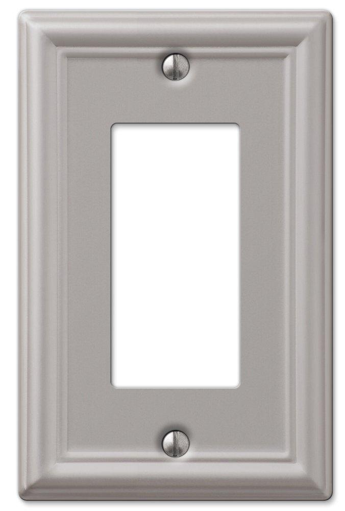 Amerelle 149RBN Chelsea Steel Wallplate 1 Rocker Light Switch Brushed Nickel