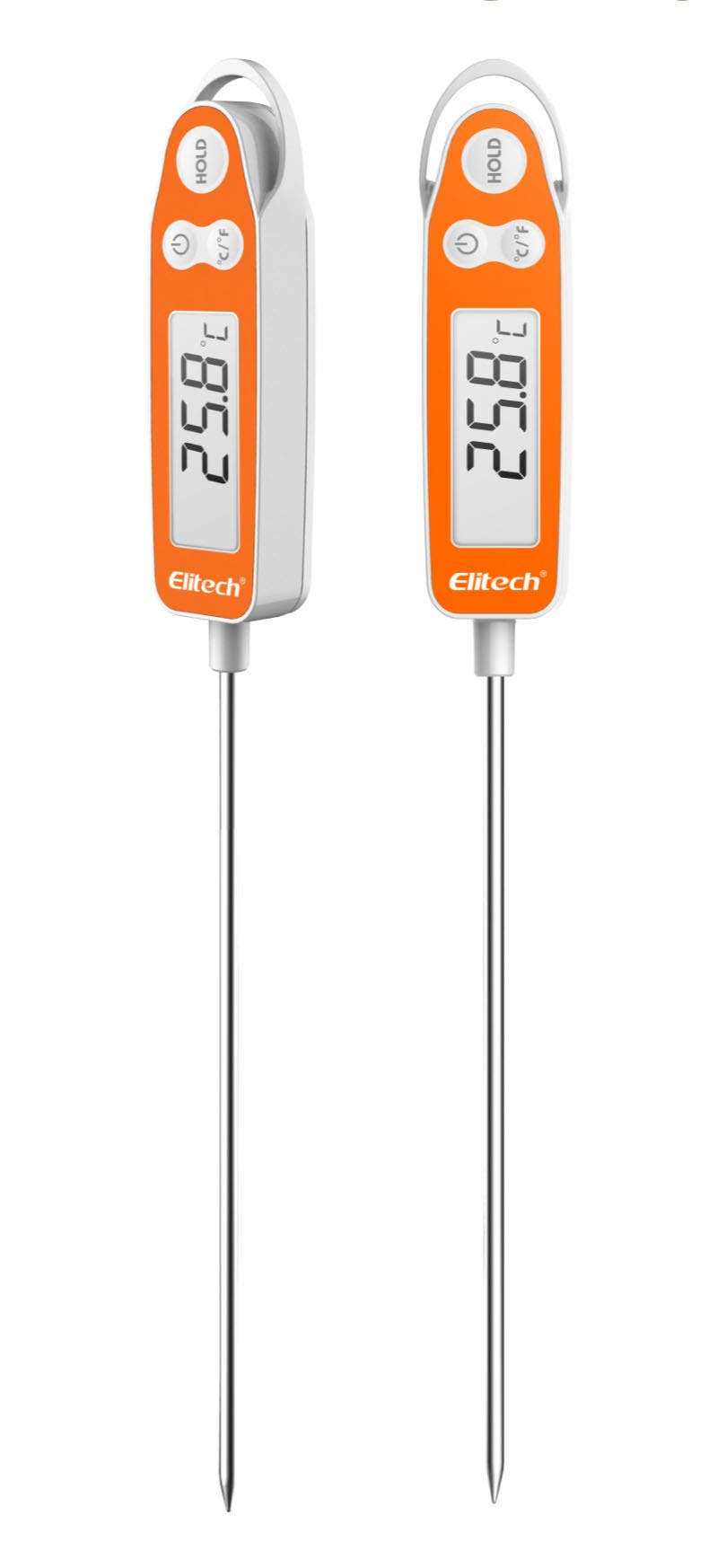 Elitech WT-9A Digital Meat Thermometer [5.9 Inch Long Probe] with Instant Read LCD Screen Hold Function for Kitchen Cooking Food Grill BBQ Meat Candy Milk Water