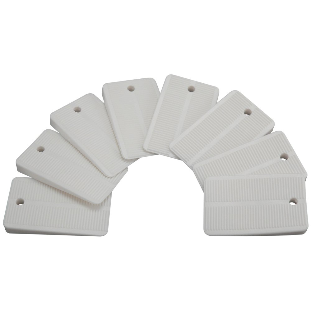 Plumb Pak PP836-55 Keeney Toilet Leveling Shims, 8-Pack, White, 8 Piece