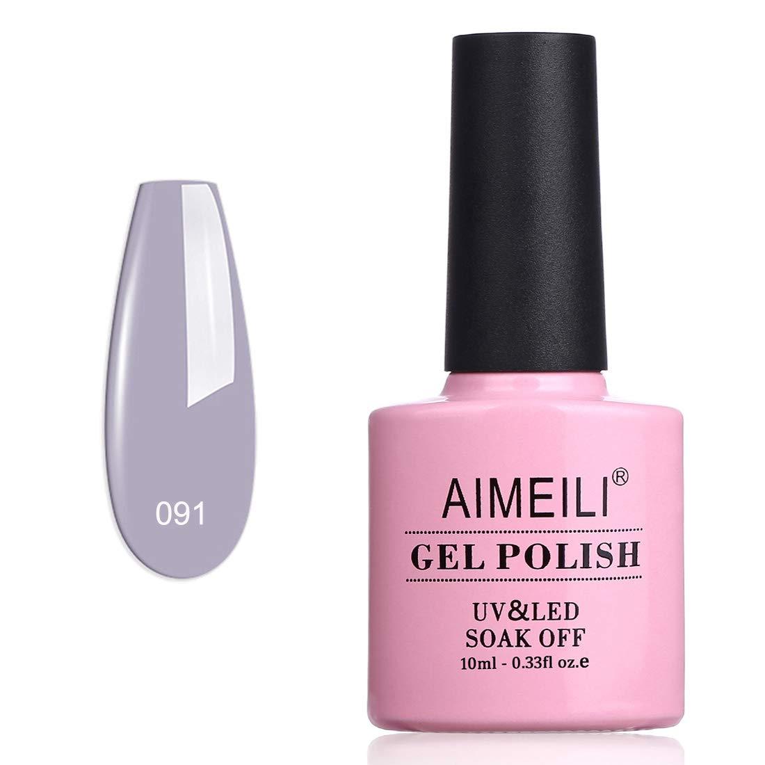 AIMEILI Soak Off UV LED Gel Nail Polish - Midnight Leisurely Look (091) 10ml