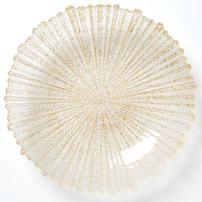 Vietri Rufolo Glass Gold Large Serving Bowl