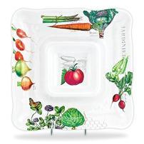Michel Design Works Melamine Chip and Dip Serving Tray, Vegetable Kingdom