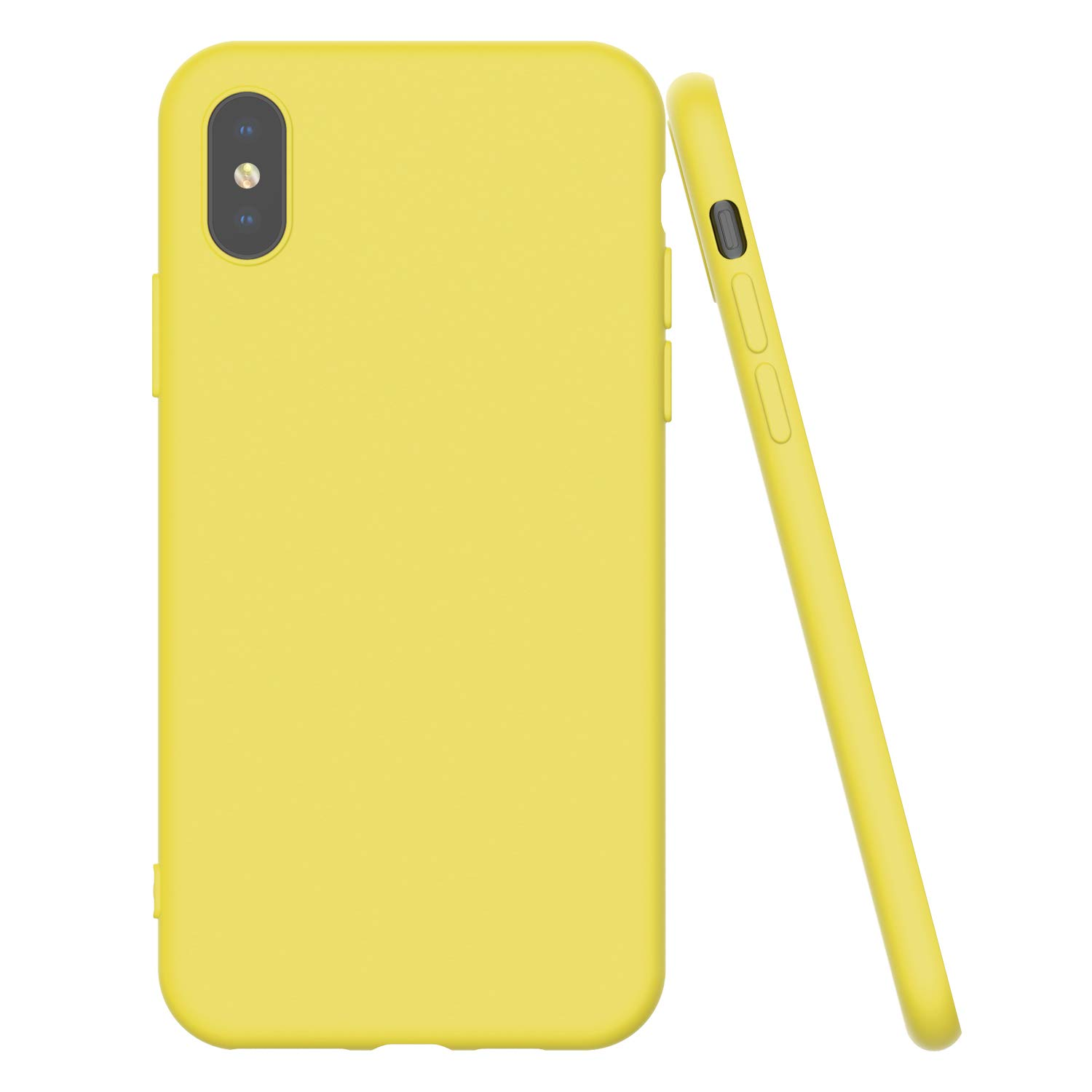 Shamo's Ultra Thin Case for iPhone Xs MAX with Soft Microfiber Cloth Lining Cushion, Slim Fit Flexible Soft TPU - Shockproof Protective Cover - Matte Pastel Color (Yellow)