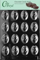 Cybrtrayd Life of the Party D003 Small Cameo  Chocolate Candy Mold in Sealed Protective Poly Bag Imprinted with Copyrighted Cybrtrayd Molding Instructions