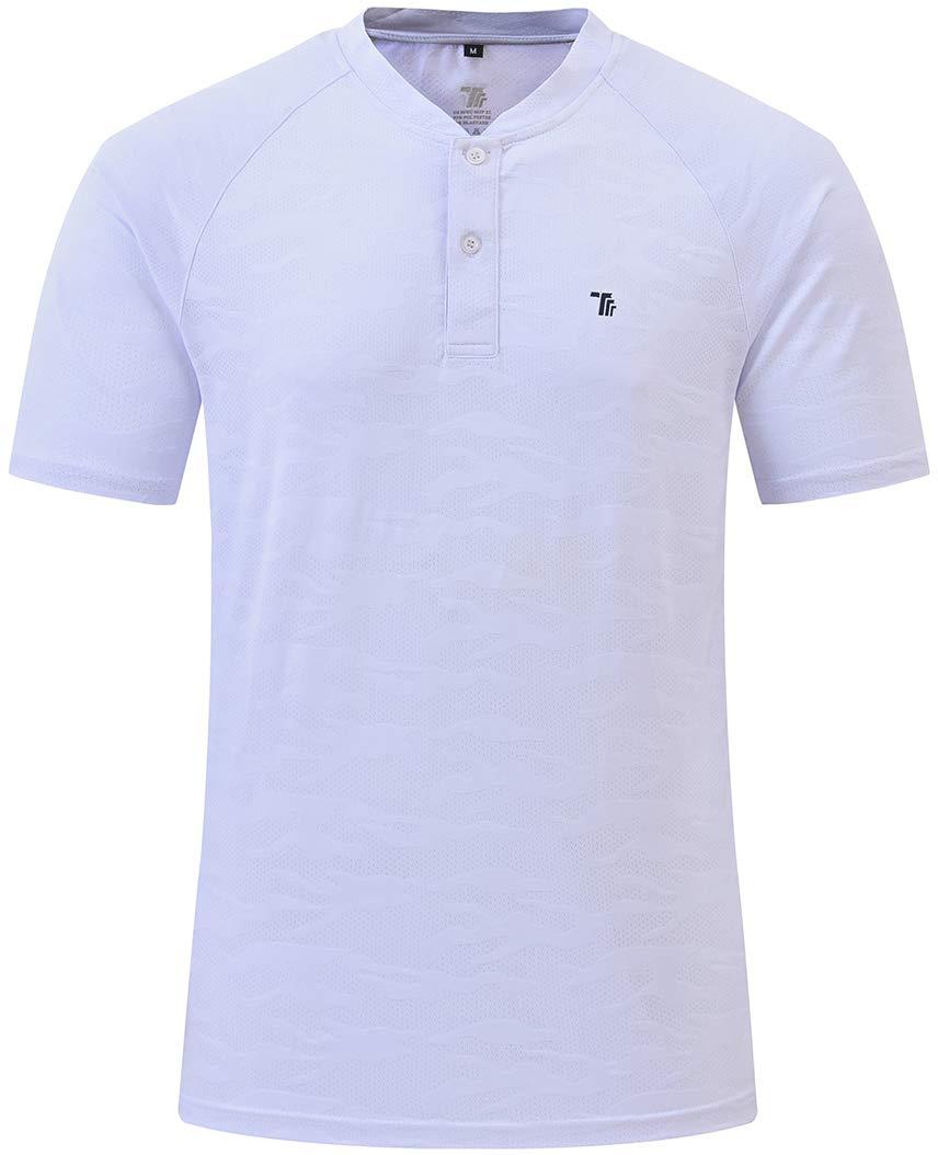 MoFiz Men's Short Sleeve Athletic Shirt Moisture Wicking Lightweight Sport Shirt