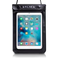 WALNEW Universal Waterproof eReader Protective Case Cover for Amazon Kindle Oasis/Paperwhite/Kindle 2019/Keyboard/Kindle Fire 7, Kobo Touch,Nook Simple Touch, iPad Mini, Black