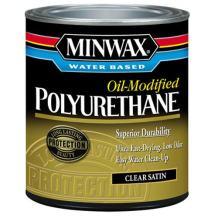 Minwax 630250444 Minwax Water Based Oil-Modified Polyurethane, quart, Satin