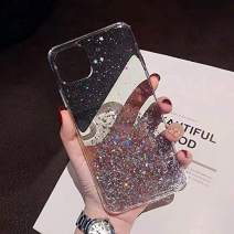 Shellstyle Fashion Cute iPhone Cases Compatible with iPhone 11 Pro Max (6.5 inch Screen) 2019, Luxury Flexible Gel Case with Whole Edge Protection (Clear Stars Shine, iPhone 11 Pro Max 6.5 Inch)