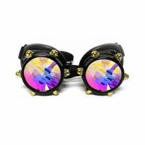 GloFX Black Bolt Cyber Gothic Rave Kaleidoscope Goggles