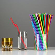 Alytimes 500 Pack Extra Long Disposable Bendable Plastic Drinking Straws, Assorted Color (Assorted color)