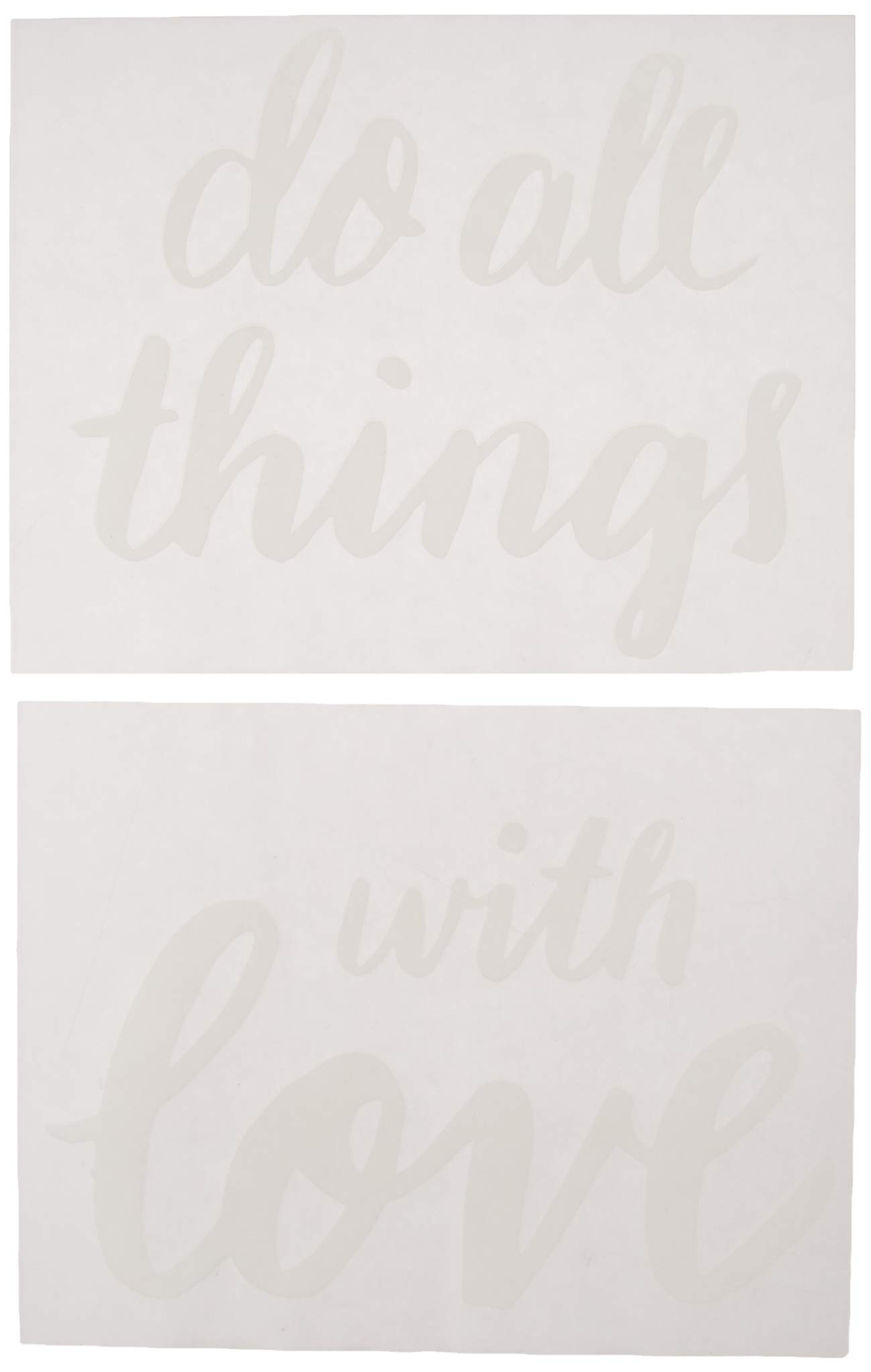 Better Than Paint E116378 Do All Things with Love Wall Décor, Art Transfer, White