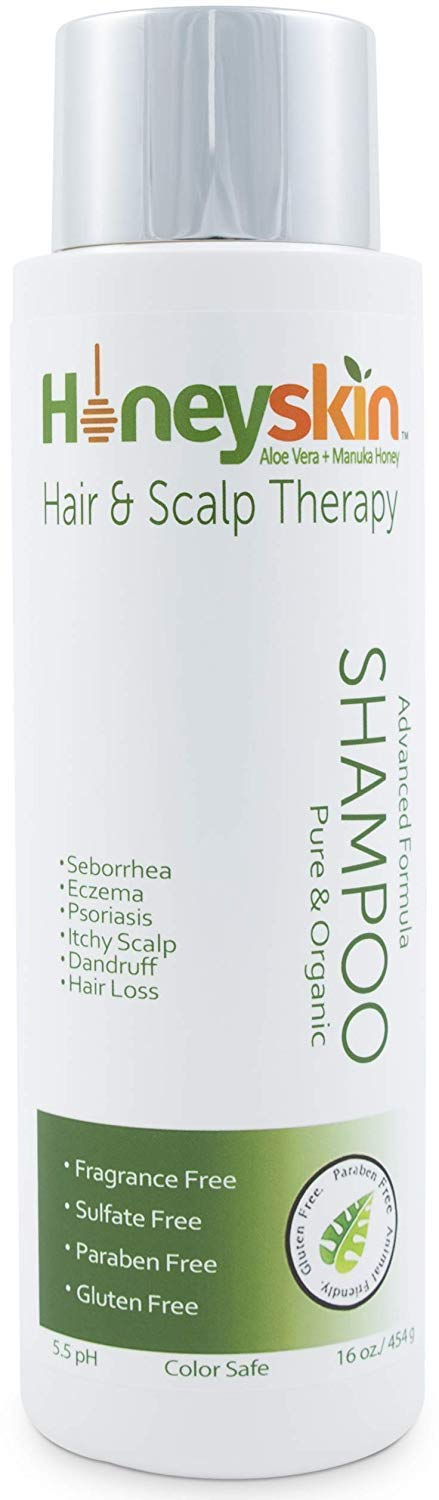 Natural Hair Growth Shampoo with Manuka Honey, Coconut Oil Aloe Vera Extract - Paraben and Sulfate Free (16oz)