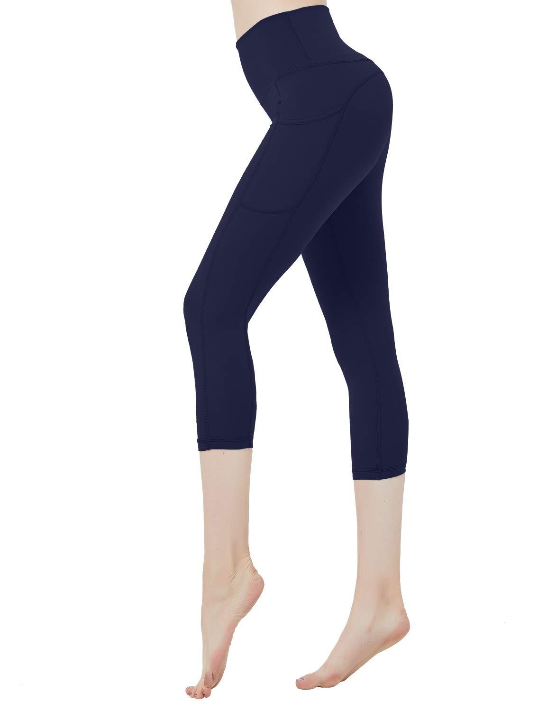 DEMOZU Women's Naked Feeling High Waist Capri Leggings Yoga Capris with Pockets