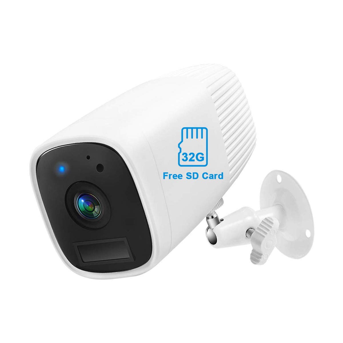 Wireless Rechargeable Battery Security Camera 1080P Abowone Wireless WiFi IP Camera IP66 Waterproof for Outdoor/Indoor 12000mAh Built-in Battery Two-Way Audio PIR Motion Detection HD Night Vision