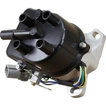 AIP Electronics Complete Premium Electronic Ignition Distributor Compatible Replacement For 1992-1996 Honda Prelude 2.2L 2.3L VTEC With External Coil OBD1 TD-61U Oem Fit DTD61