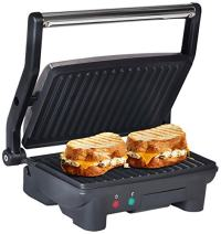 Maxi-Matic Elite Cuisine EPN-2976 Electric Panini Press & Contact, Gourmet Sandwich Maker, Opens Flat 180-Degree Indoor Grill with Floating H, Black