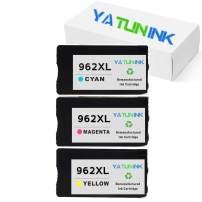 YATUNINK Remanufactured Ink Cartridge Replacement for HP 962XL Ink Cartridge for HP Officejet 9012 OfficeJet 9010 OfficeJet 9015 OfficeJet 9018 OfficeJet 9020 OfficeJet 9025 Printer (3 Color)