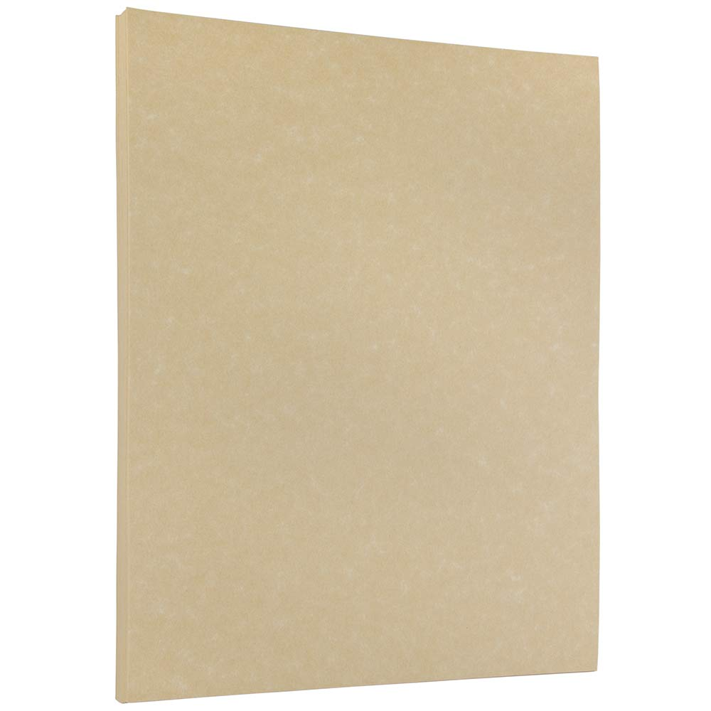 JAM PAPER Parchment 24lb Paper - 8.5 x 11 - Brown Recycled - 100 Sheets/Pack
