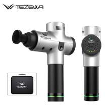 Vibrate Muscle Massage Gun - 6 Tips - Deep Tissue Percussion Massager - Portable Handheld Rechargeable - 10 Days Delivery