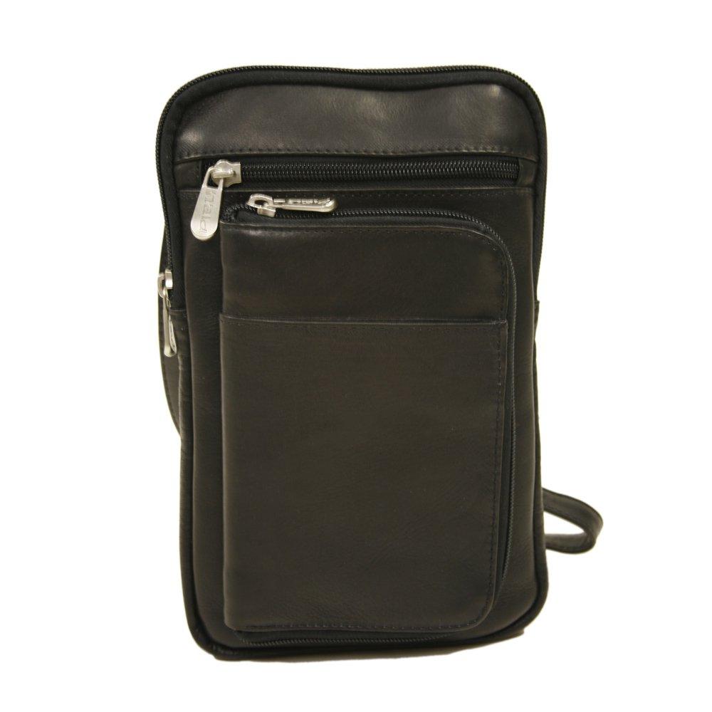Piel Leather Hanging Travel Organizer, Black, One Size