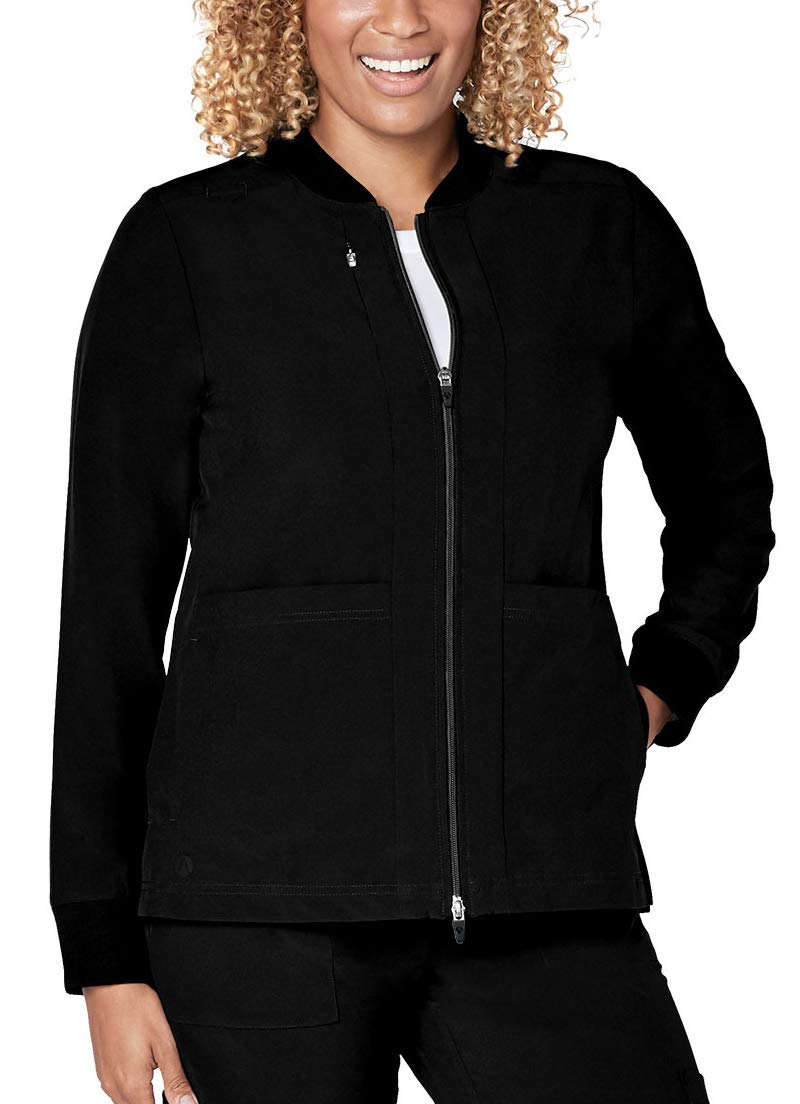 Adar Addition Scrubs for Women- Classic Bomber Scrub Jacket