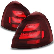 For 04-08 Pontiac Grand Prix Full Red Rear LED Tail Lights Brake Lamps Replacement Pair Left + Right