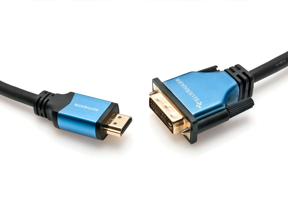 BlueRigger DVI to HDMI Cable (25 Feet, Monitor Cable, Male to Male, Black)