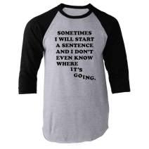 Pop Threads Workplace Office Humor Funny Merchandise TV Show Raglan Baseball Tee Shirt
