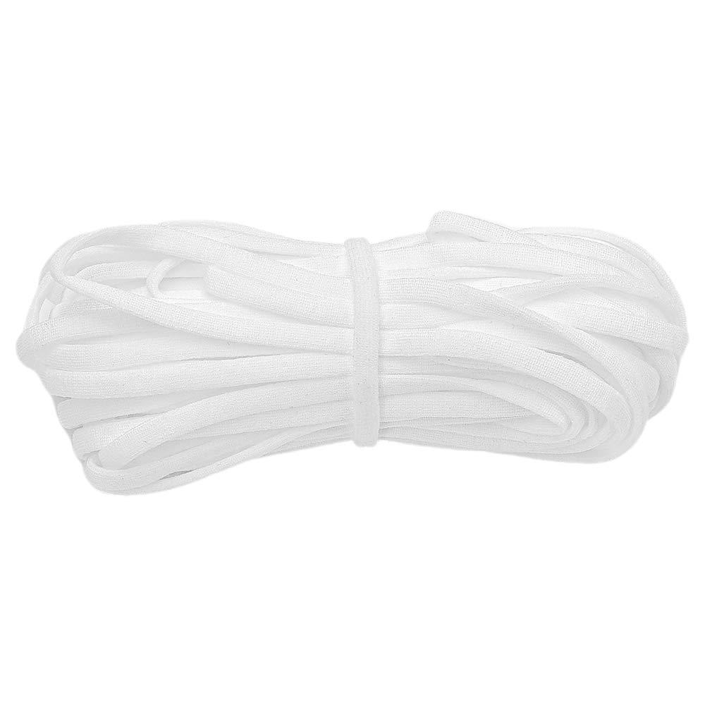"Elastic Bands for Sewing -1/4"" Width 81Yards Elastic Cord Braided Stretch Strap High Elasticity Knit for Sewing Crafts DIY Bedspread Cuff"