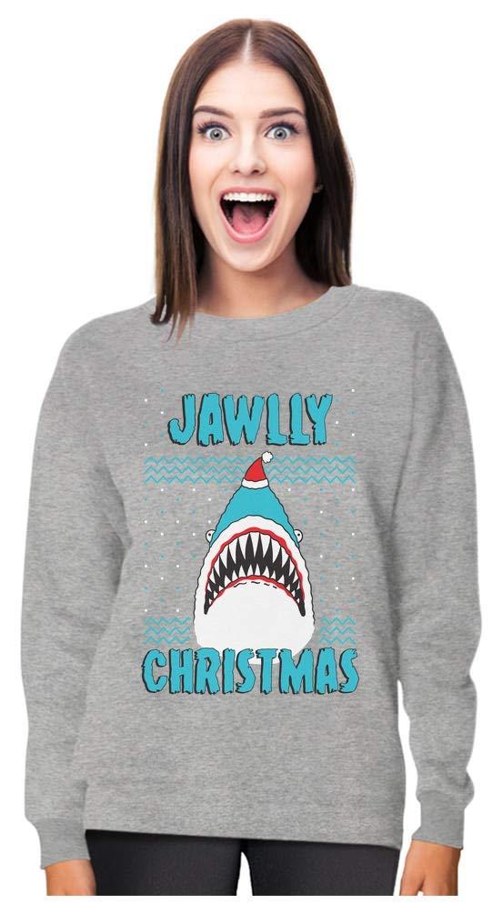 Jawlly Christmas Ugly Christmas Sweater for Xmas Party Shark Women Sweatshirt