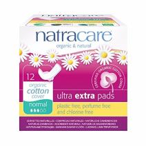 Natracare Ultra Extra Pads with Wings, Normal.
