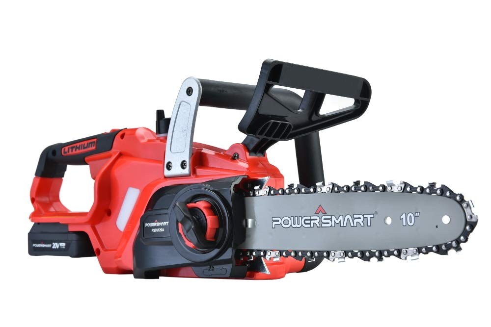 PowerSmart PS76120A 10-Inch 20V Cordless Chainsaw, 1.5AH Battery Included