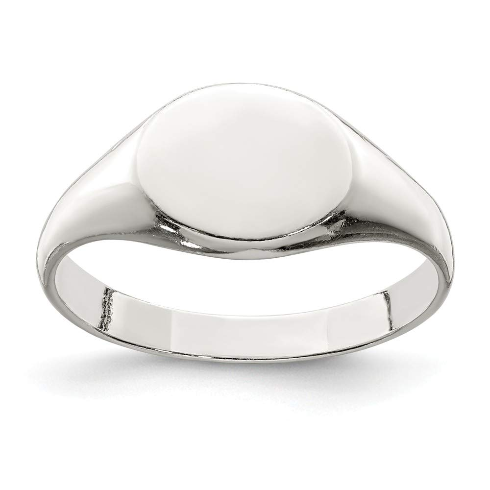 925 Sterling Silver Signet Band Ring Size 6.00 Fine Mothers Day Jewelry For Women Gifts For Her