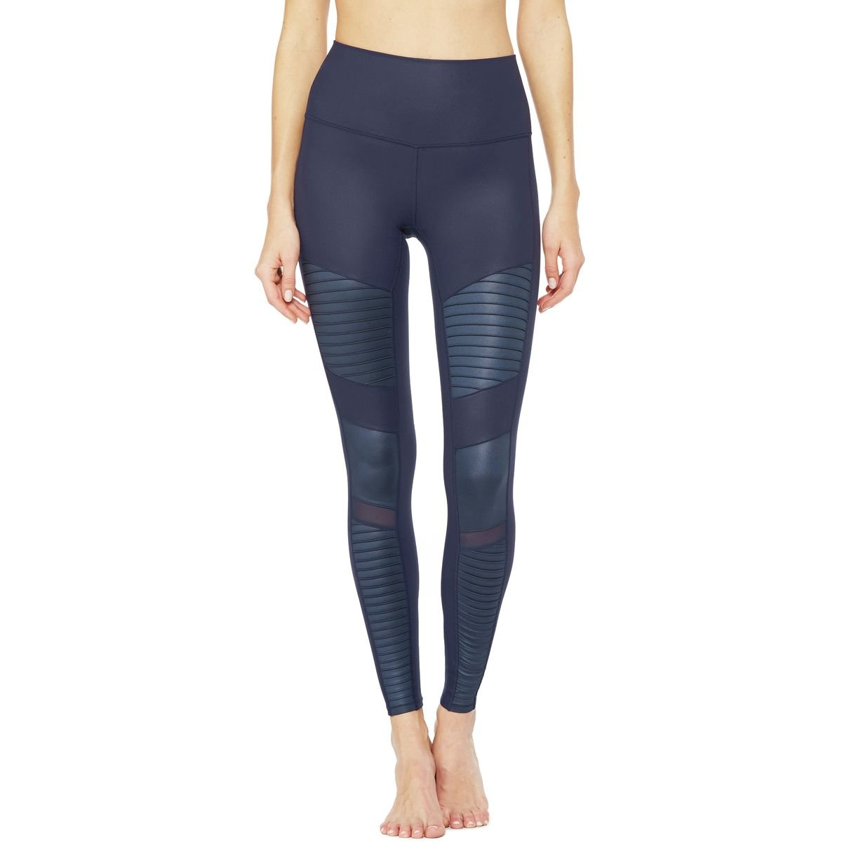 ALO High Waisted Moto Leggings Rich Navy/Rich Navy Glossy 1 SM