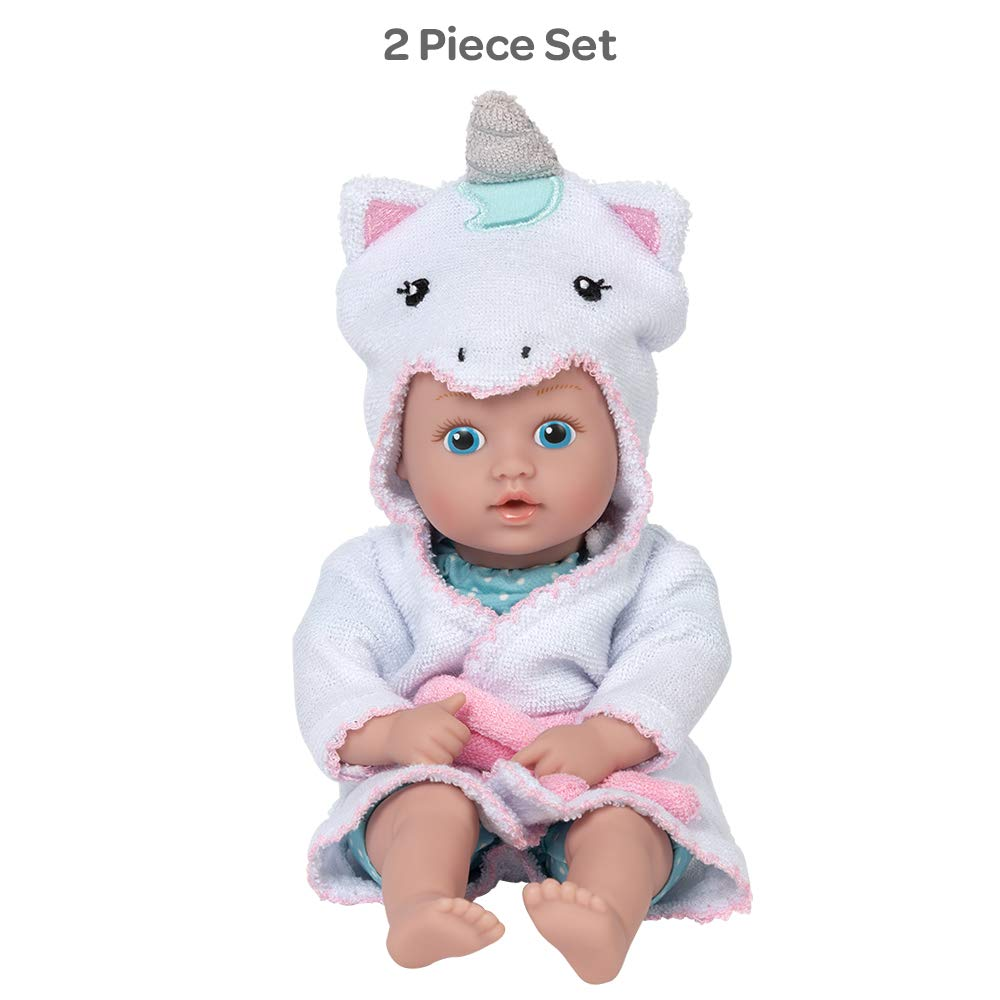 Adora BathTime Tot Unicorn - Pool and Water Toy for Toddlers, 8.5 inches, QuickDri Body, Already in Swimsuit