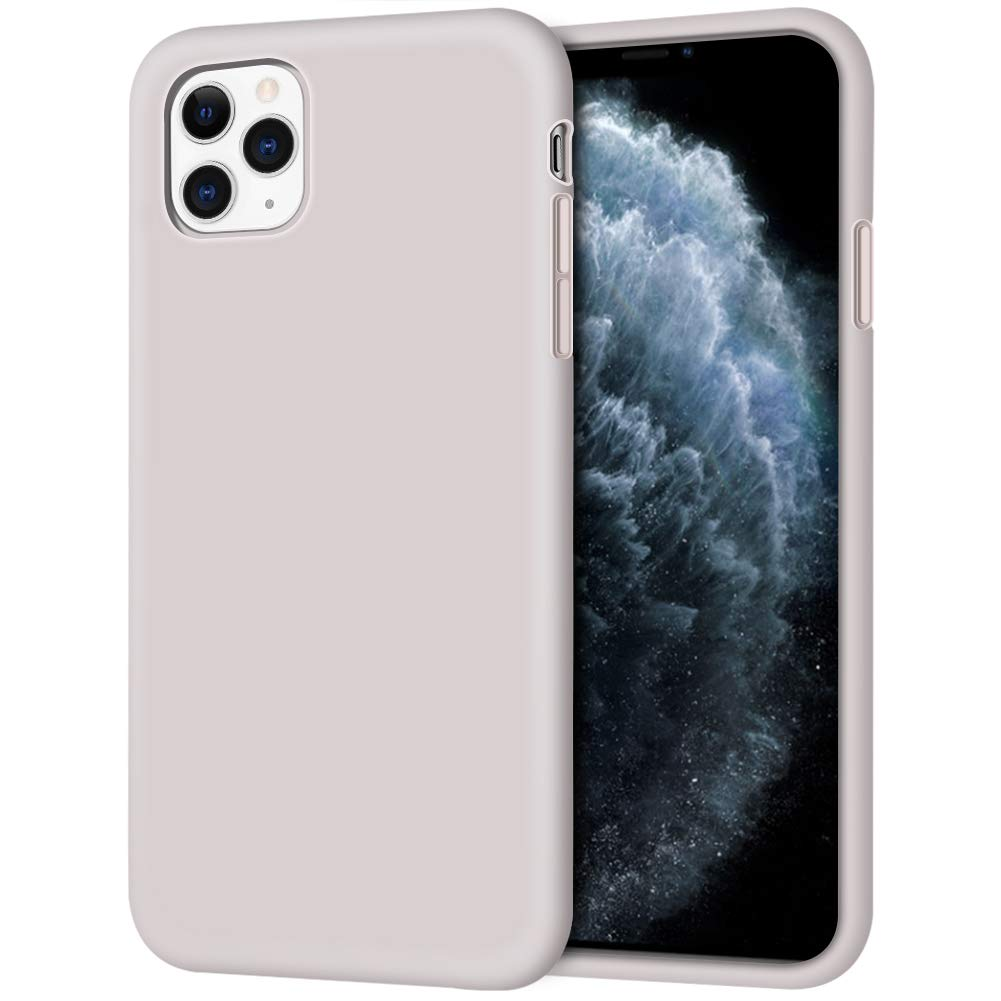 """iPhone 11 Pro Case, Anuck Soft Silicone Gel Rubber Bumper Phone Case Anti-Scratch Microfiber Lining Hard Shell Shockproof Full-Body Protective Case Cover for iPhone 11 Pro 5.8"""" 2019 - Lavender Gray"""