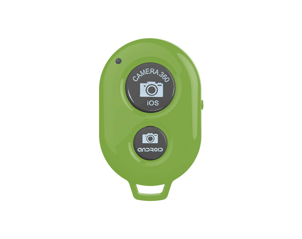 Camera Shutter Remote Control with Bluetooth Wireless Technology - Create Amazing Photos and Videos Hands-Free - Works with Most Smartphones and Tablets (iOS and Android)+1pcs Wrist Strap (Green)