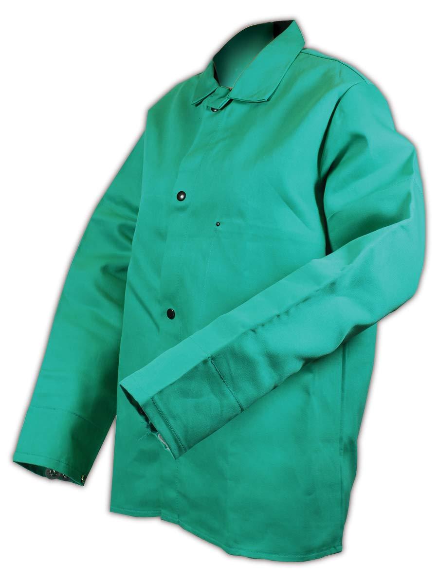 "Magid 1834XXL SparkGuard Flame Resistant Cotton Standard Weight Jacket, 30"" Length, 2XL, Green"