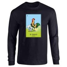 Pop Threads Loteria Cards Mexican Lottery Bingo Full Long Sleeve Tee T-Shirt