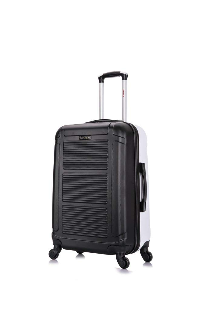 InUSA Luggage Pilot Collection 24'' Medium Suitcase - Lightweight hardside - Multidirectional smooth spinner - Telescoping handle - Interior full capacity design – Many Colors Available