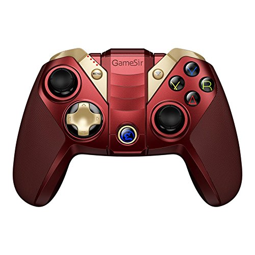 GameSir M2 MFI Wireless Gamepad iOS Gaming Controller Compatible for Apple TV, iPhone, Ipad, iPod Touch, Mac, Tello Drone - Red