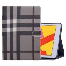 iPad 6th/5th Generation 9.7 inch 2018/2017 Case, Shockproof Protective Stand Case Cover with Auto Wake/Sleep for iPad Air 2 / iPad Air (Black Plaid)
