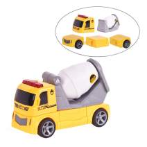 EPFamily Premium Cement Truck Toy,DIY Assembled Magnetic Construction Vehicles Toy,Compact Gift Toy for 3,4,5 Years Old,Toddlers,Boys,Kids
