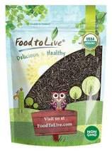 Organic Wild Rice, 8 Ounces - Long Black Whole Grain, Non-GMO, Kosher, Raw, Vegan, Bulk