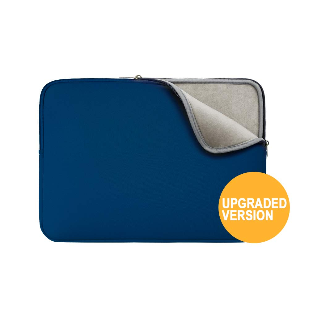RAINYEAR 13 Inch Laptop Sleeve Protective Case Padded Bag Specially Compatible with 2019 2020 New Model 13.3 MacBook Air/Pro/Retina/Touch Bar A1932 A1706 A1708 A2159 A2179(Navy Blue,Upgraded Version)