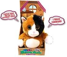 Mindscope Babble Budz Mimicking Animatronic Furry Friends Plush Toy with 3 Voice Filters (Cat)