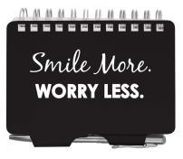 Wellspring Metal Password Keeper Organizer-Smile More Worry Less w/Pen
