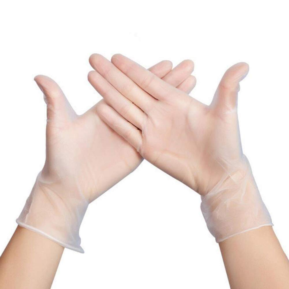 Gloves Disposable Powder Free Latex Free Gloves Vinyl Gloves Surgical Gloves Clear Plastic Gloves Small (100 PCs)